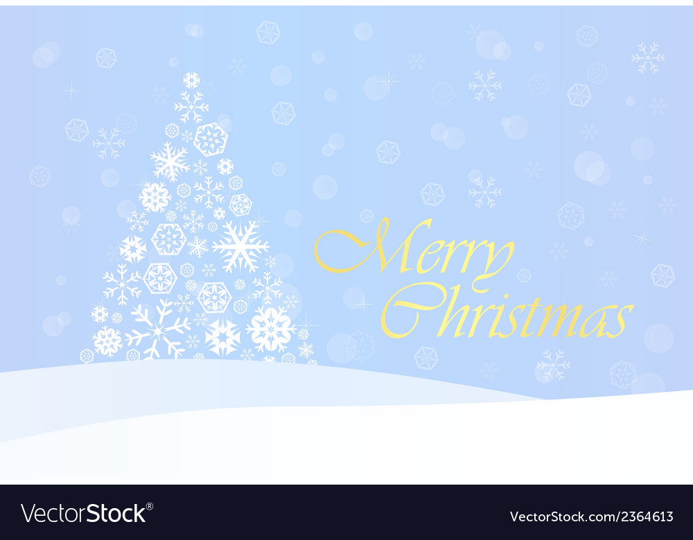 Christmas background with gold tree vector | Price: 1 Credit (USD $1)
