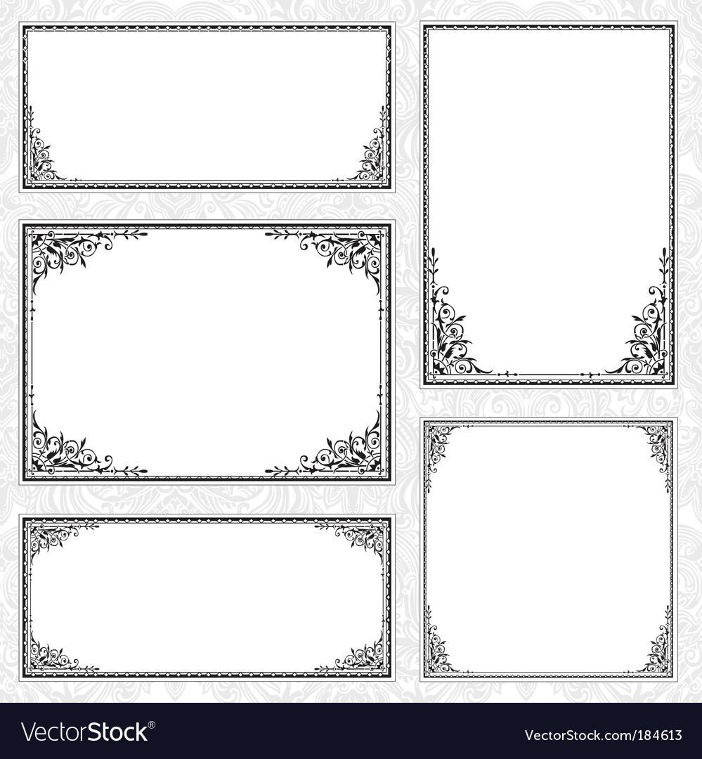 Decorative frame set and pattern vector | Price: 1 Credit (USD $1)