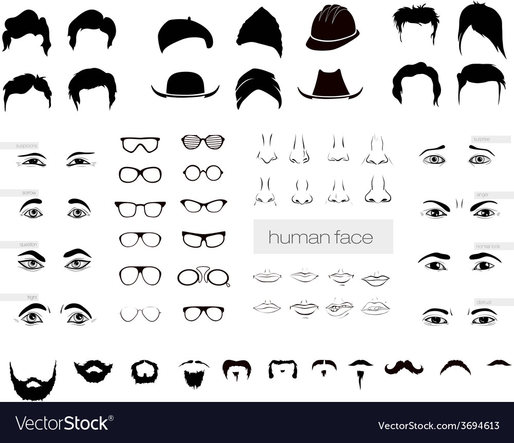 Elements of a person vector | Price: 1 Credit (USD $1)