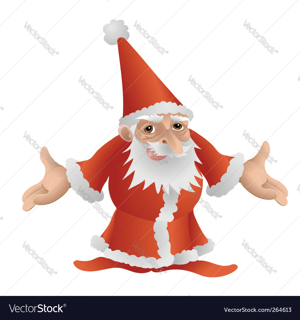 Father christmas character vector | Price: 1 Credit (USD $1)