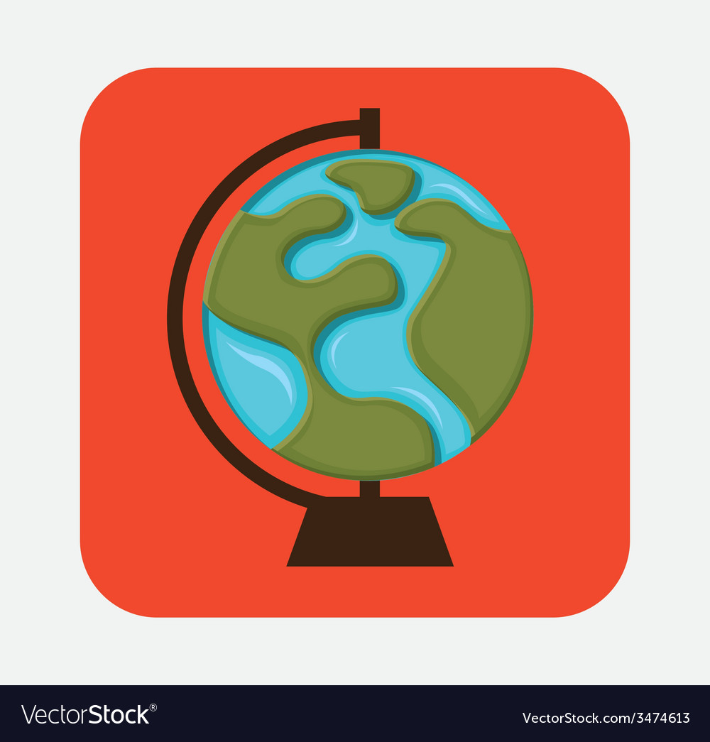 Globe earth design vector | Price: 1 Credit (USD $1)
