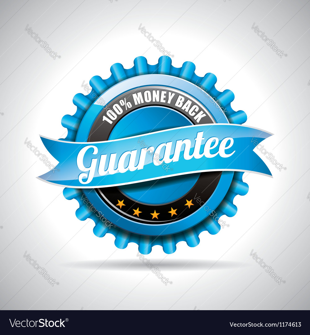 Guarantee labels with shiny styled design vector | Price: 1 Credit (USD $1)