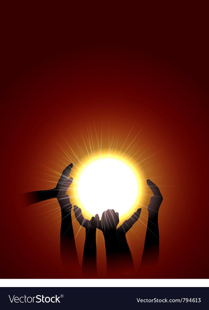 Holding sun vector | Price: 1 Credit (USD $1)