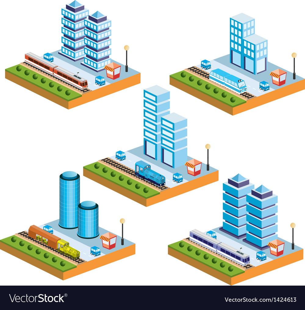 Isometric city vector | Price: 1 Credit (USD $1)