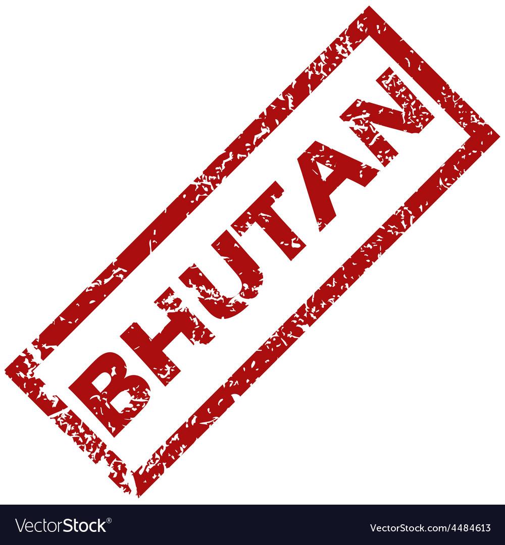 New bhutan rubber stamp vector | Price: 1 Credit (USD $1)