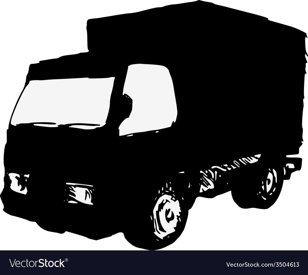 Small truck vector | Price: 1 Credit (USD $1)