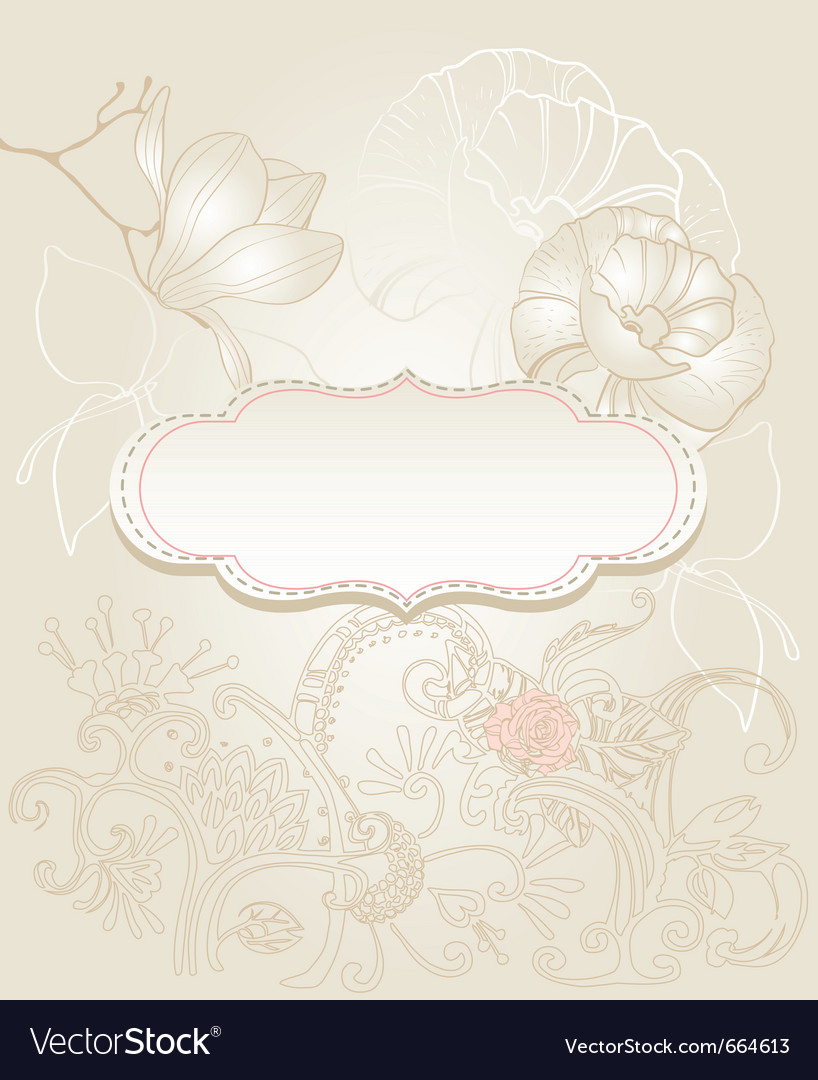 Vintage style background vector | Price: 1 Credit (USD $1)