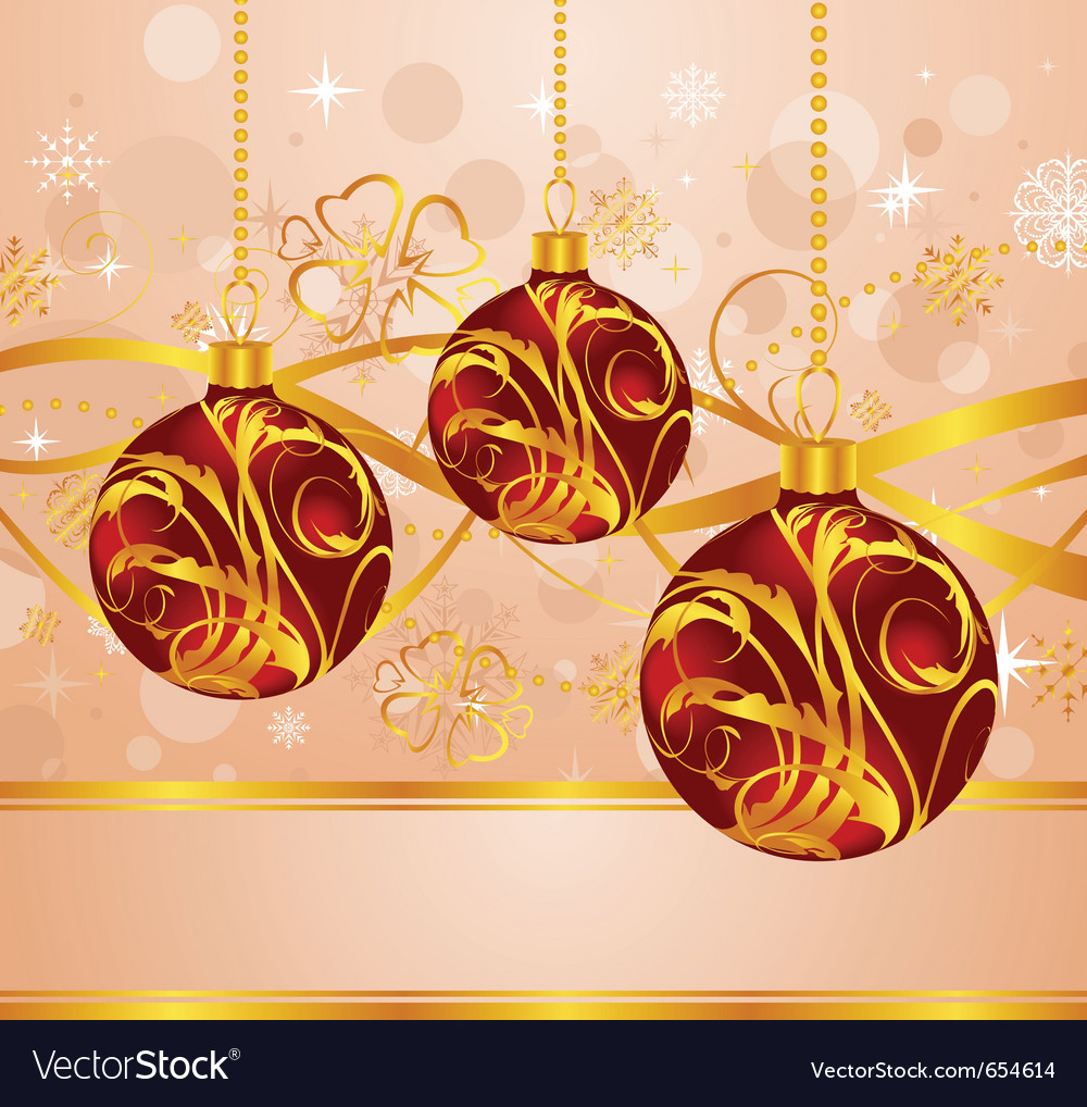 Abstract background with christmas balls - vector | Price: 1 Credit (USD $1)