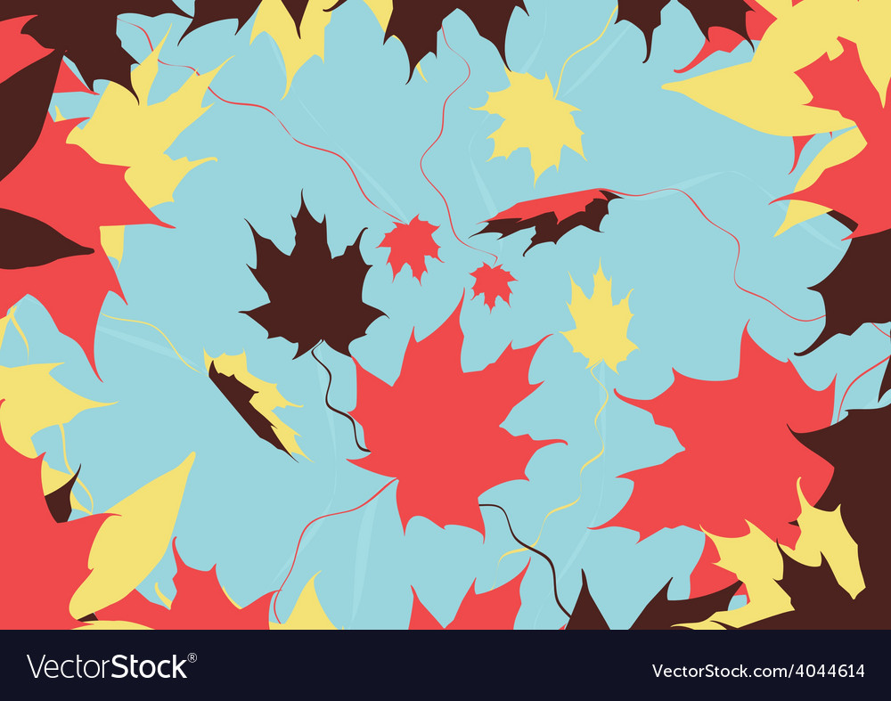 Autumn leaves color vector | Price: 1 Credit (USD $1)