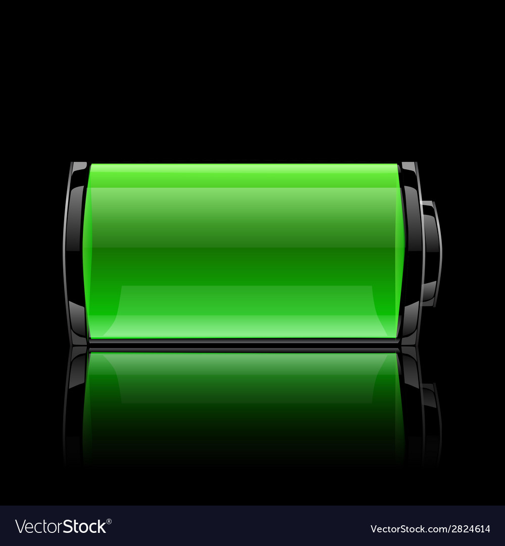 Green battery full charge with lighting vector | Price: 1 Credit (USD $1)