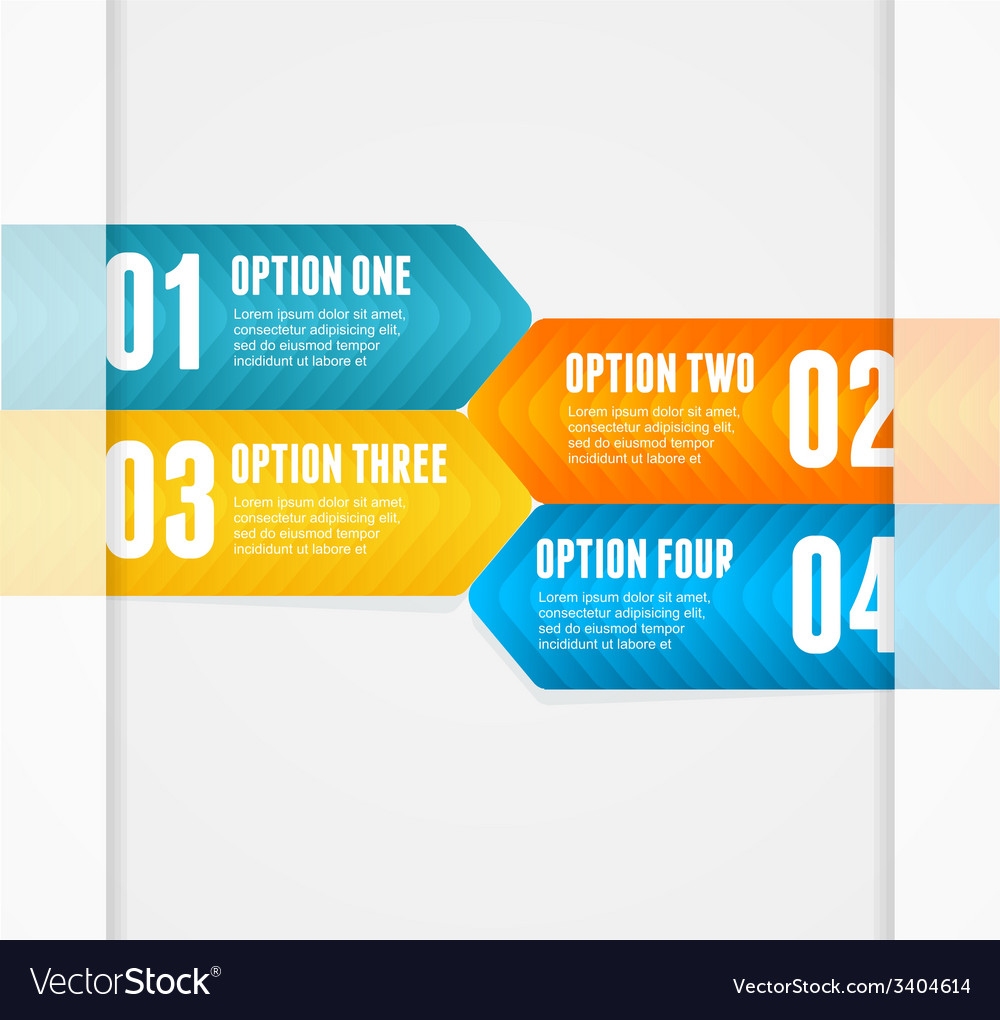Infographics options banner 1 2 3 4 vector | Price: 1 Credit (USD $1)