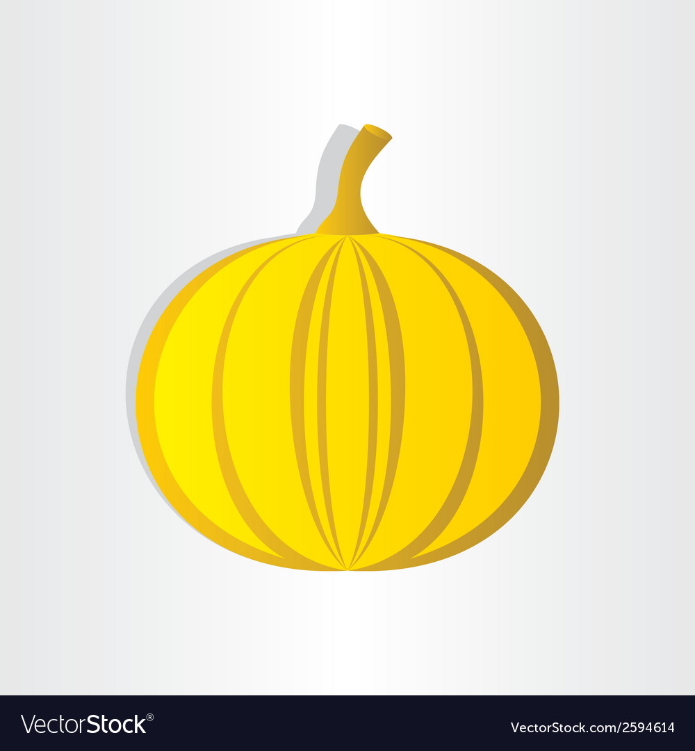 Orange pumpkin abstract design halloween symbol vector | Price: 1 Credit (USD $1)