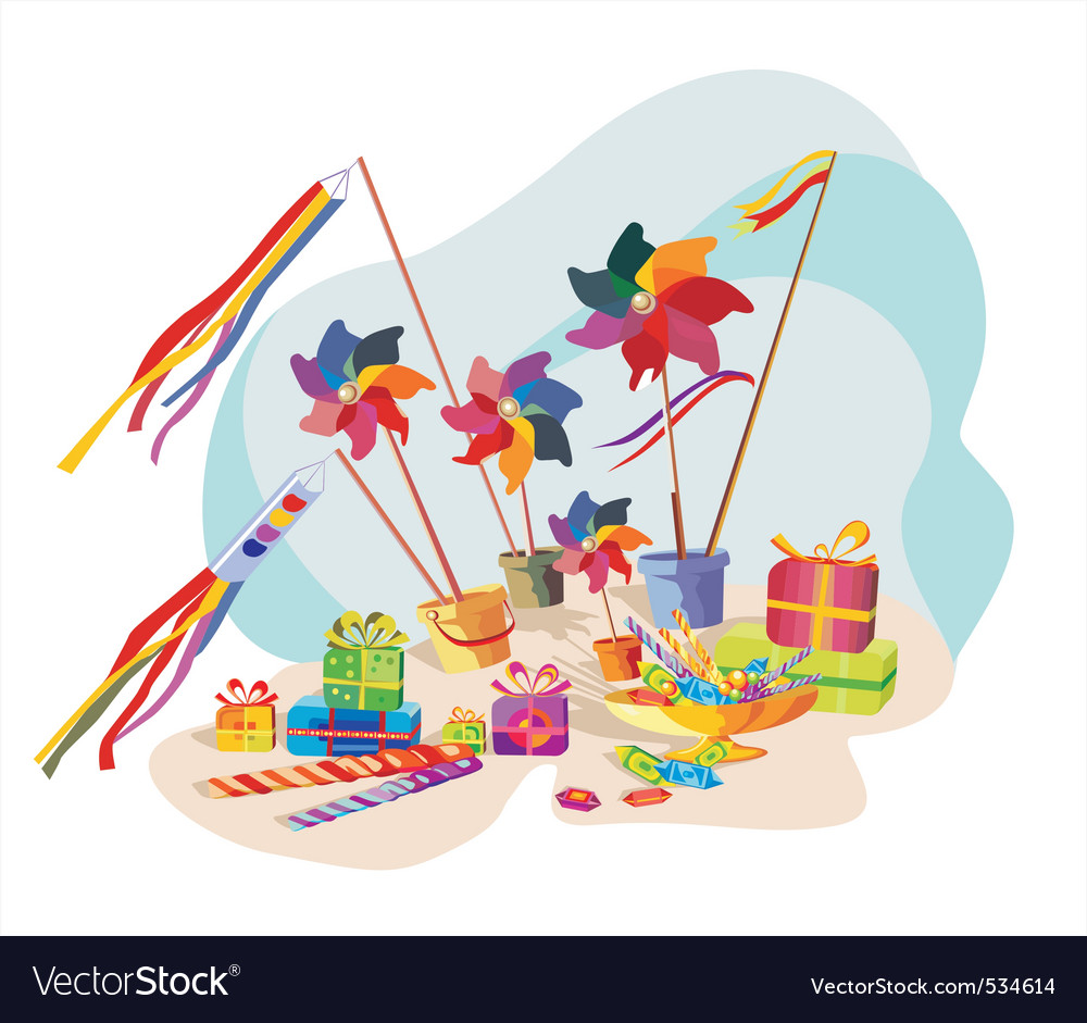 Pinwheel toys gifts and candy vector | Price: 3 Credit (USD $3)