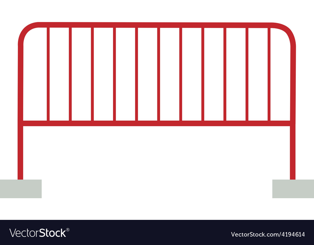 Red barrier vector | Price: 1 Credit (USD $1)