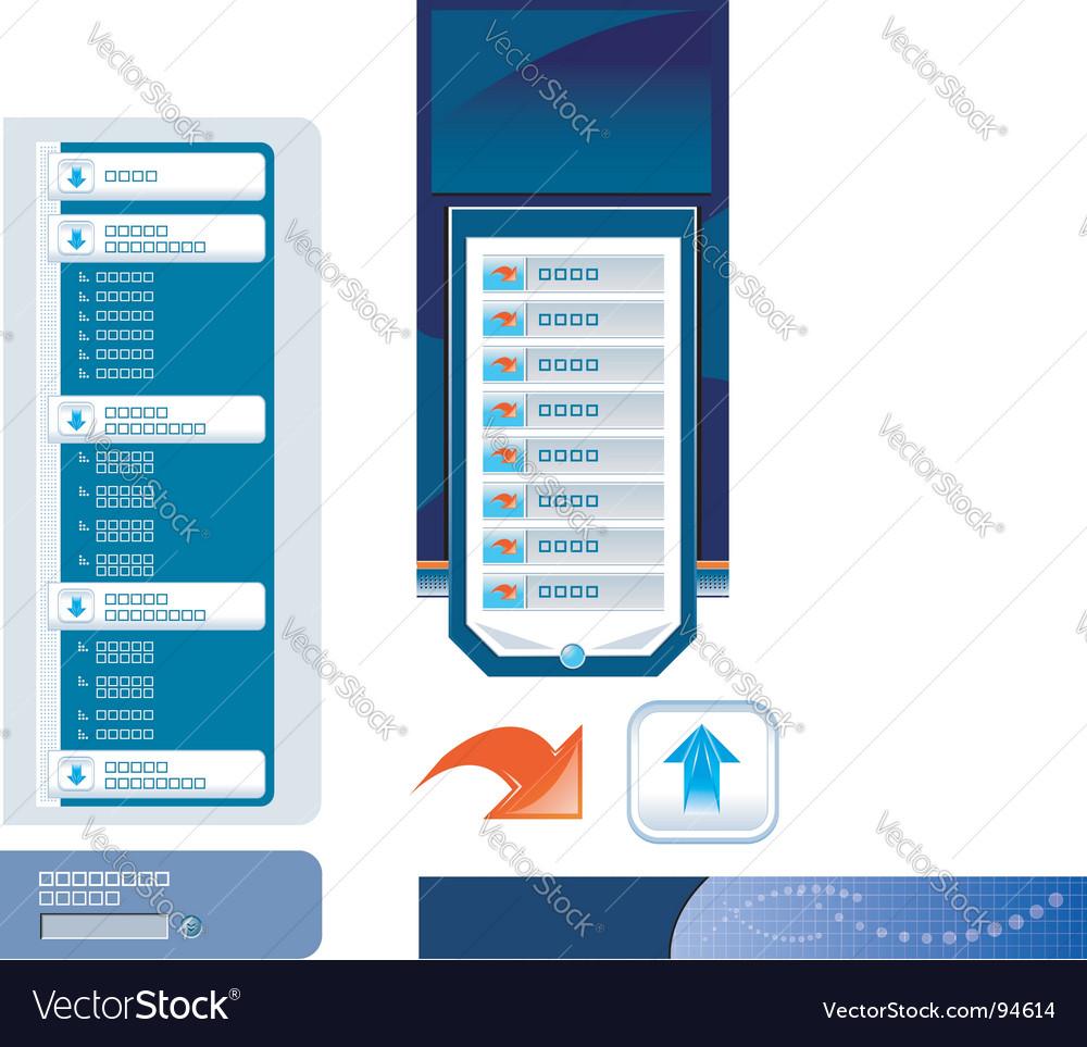 Website navigation templates vector