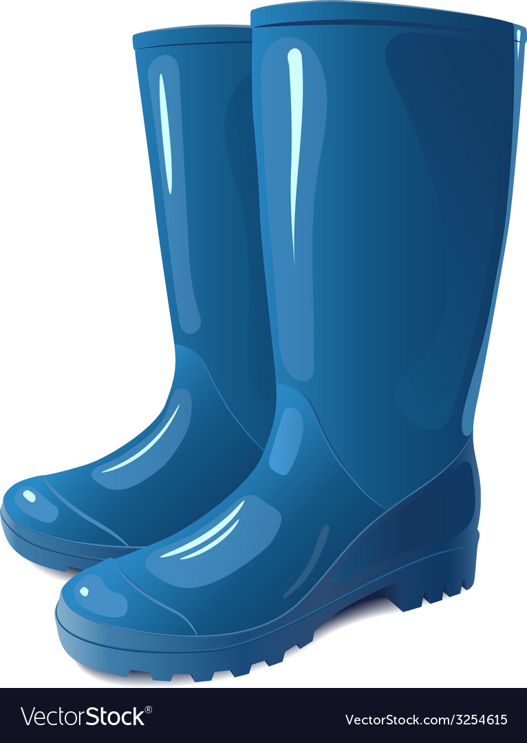 Blue rain boots vector | Price: 1 Credit (USD $1)