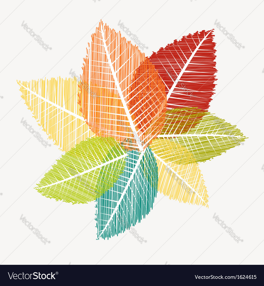 Colorful abstract transparent leaves autumn vector   Price: 1 Credit (USD $1)