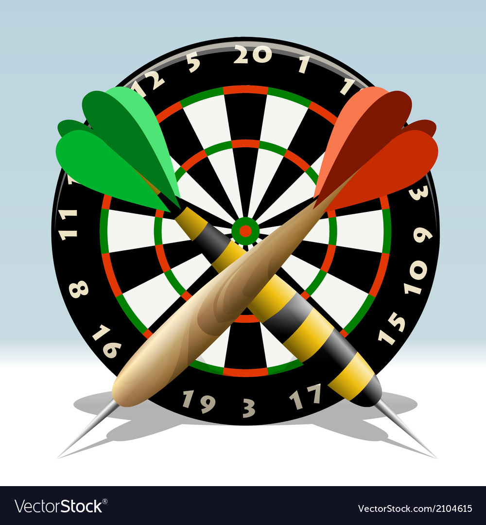 The dartboard vector | Price: 1 Credit (USD $1)