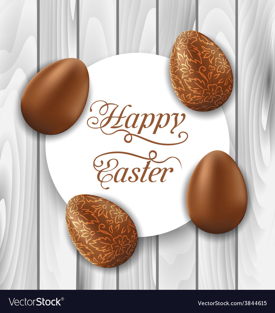Greeting card with easter chocolate ornamental vector | Price: 1 Credit (USD $1)