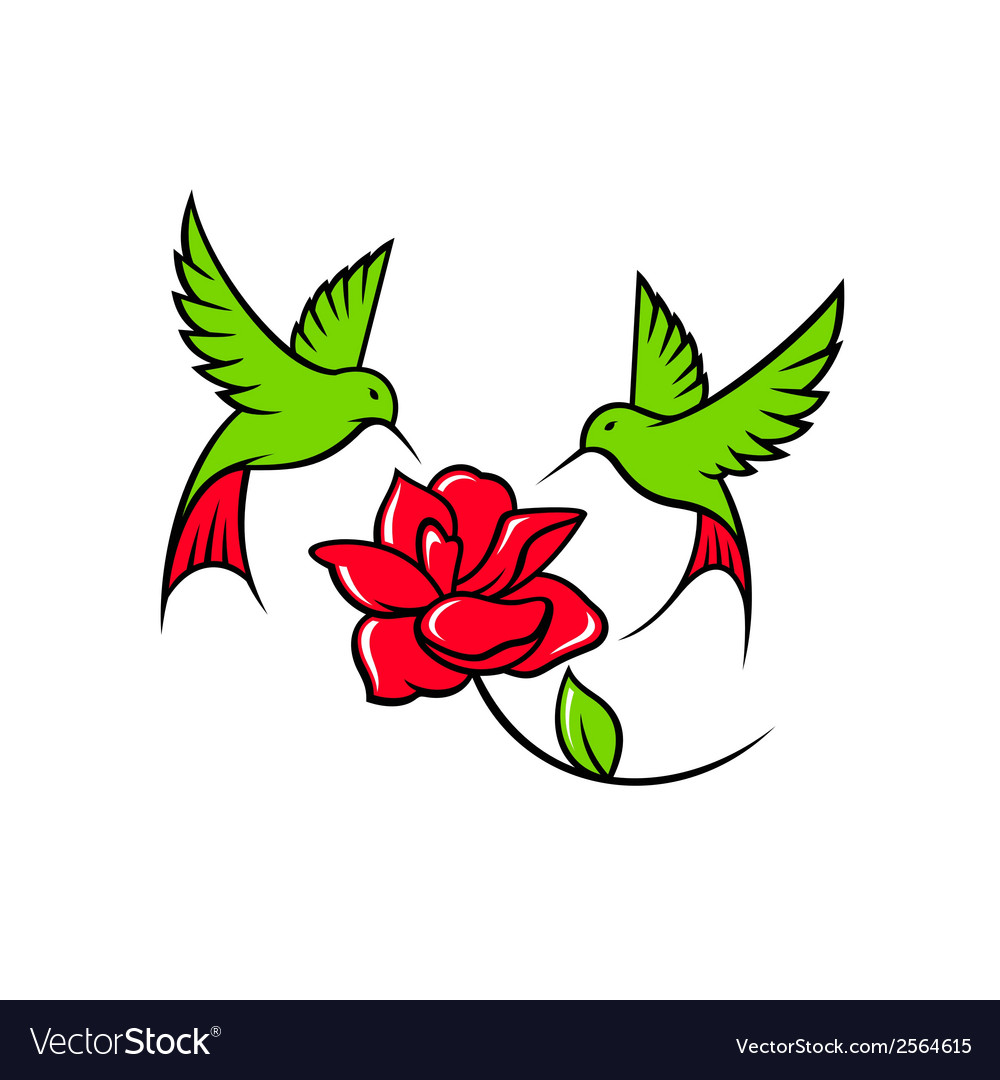 Hummingbird sign vector | Price: 1 Credit (USD $1)