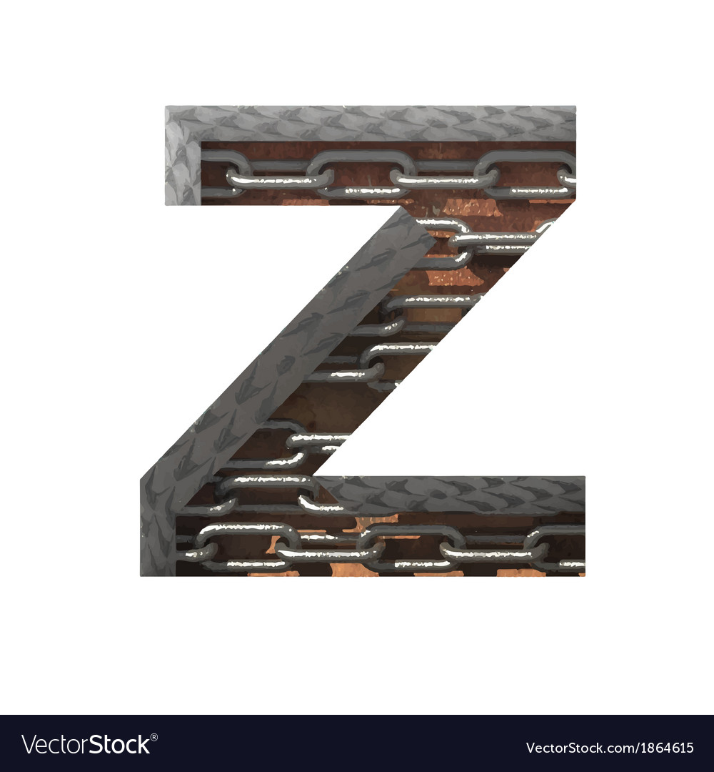 Metal cutted figure z paste to any background vector   Price: 1 Credit (USD $1)