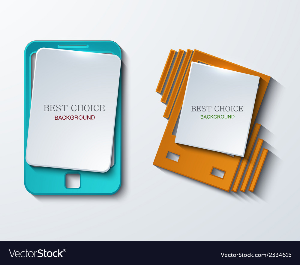 Modern smartphone banners set vector | Price: 1 Credit (USD $1)