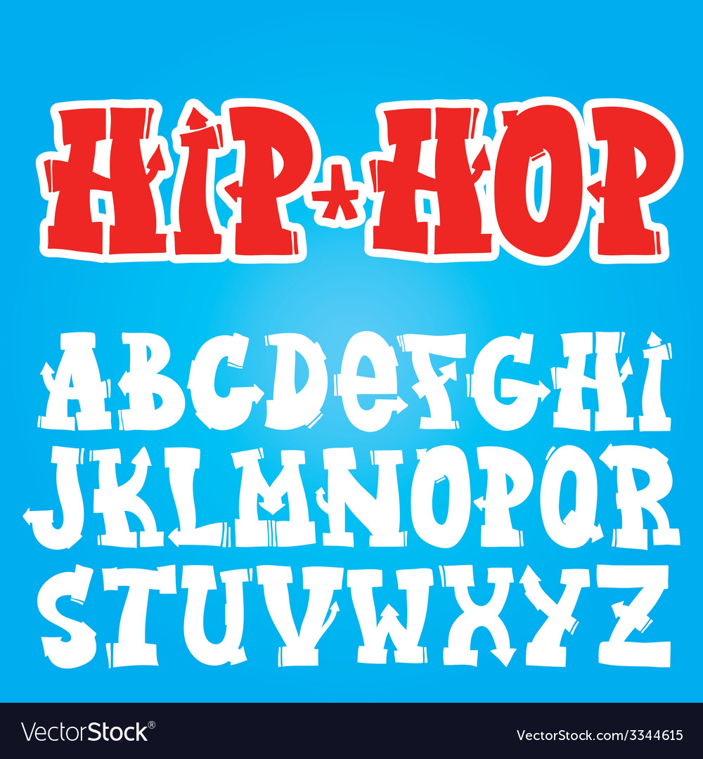 Old school graffiti font vector | Price: 1 Credit (USD $1)
