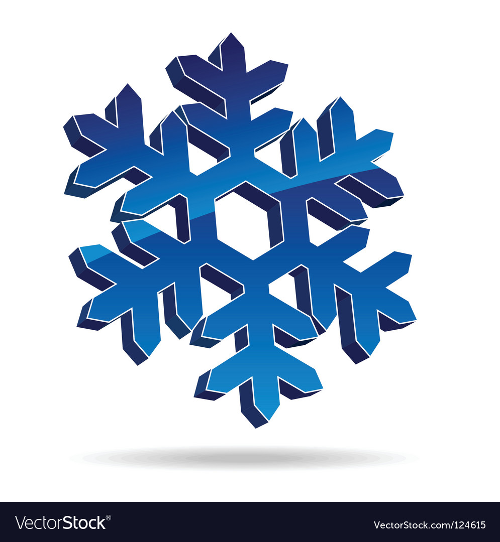 Snow flake vector | Price: 1 Credit (USD $1)