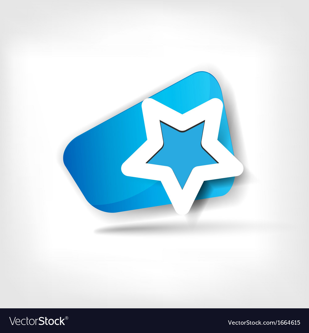 Star favorite web icon vector | Price: 1 Credit (USD $1)