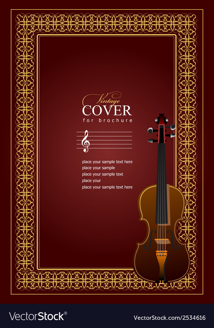 Al 0507 cover violin vector | Price: 1 Credit (USD $1)