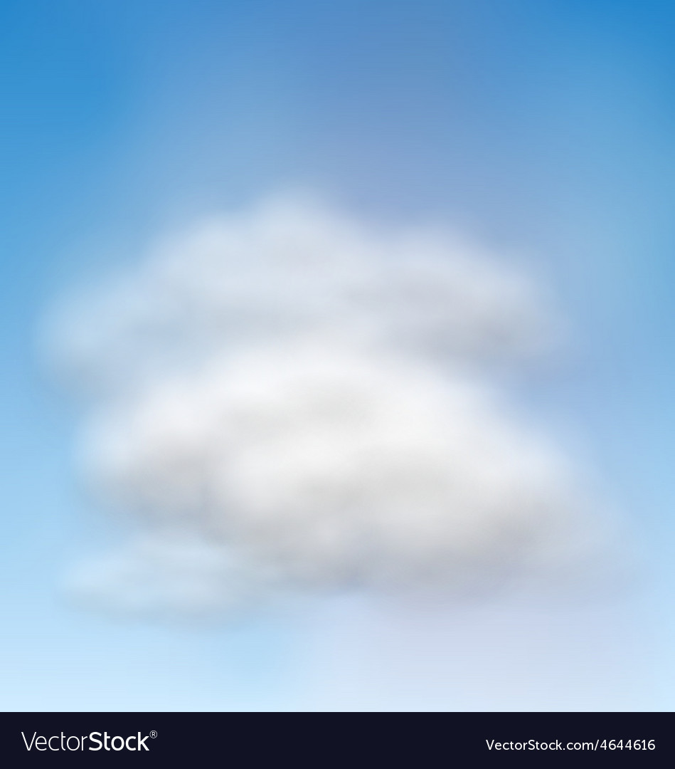 Background blue sky fluffy clouds vector | Price: 1 Credit (USD $1)