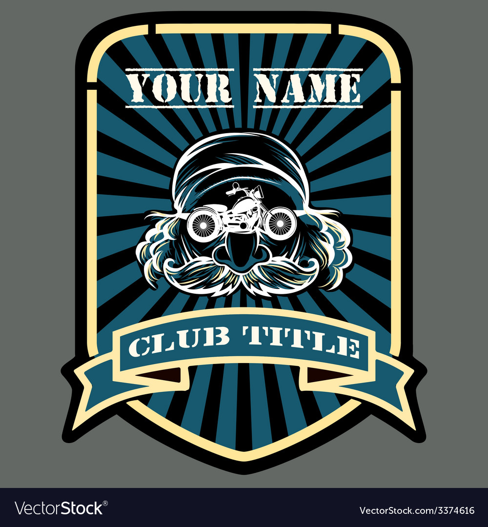 Biker or motor racing club emblem vector | Price: 1 Credit (USD $1)