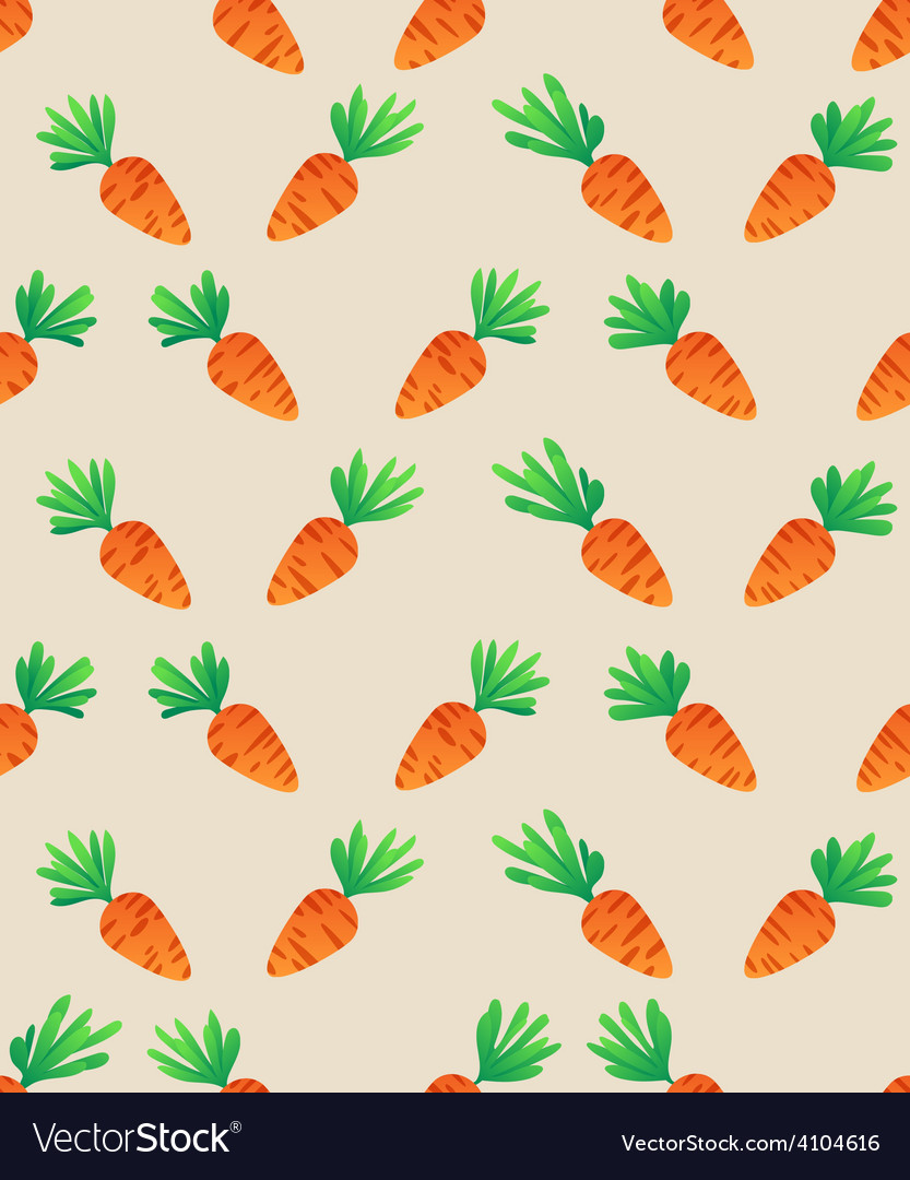 Carrot seamless pattern vector | Price: 1 Credit (USD $1)
