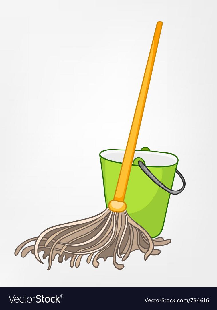 Cartoon home miscellaneous mop vector | Price: 1 Credit (USD $1)