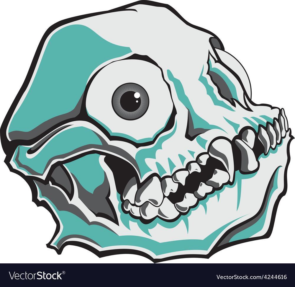 Comical skull vector | Price: 1 Credit (USD $1)