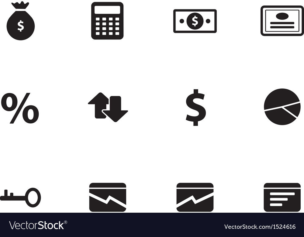 Economy icons on white background vector | Price: 1 Credit (USD $1)