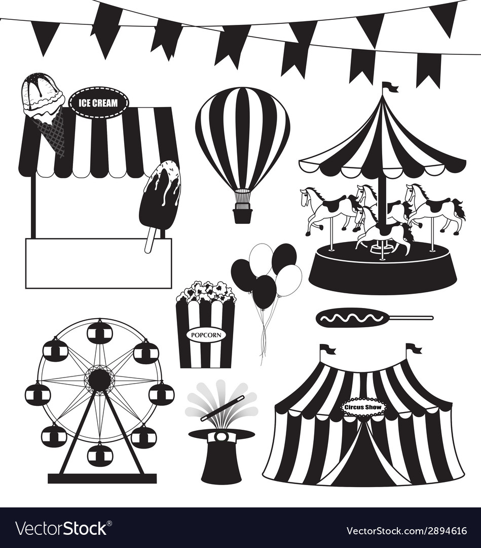 Fun fair and circus collection vector | Price: 1 Credit (USD $1)