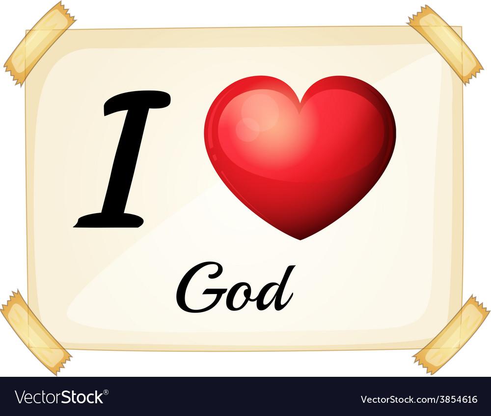 I love god vector | Price: 1 Credit (USD $1)