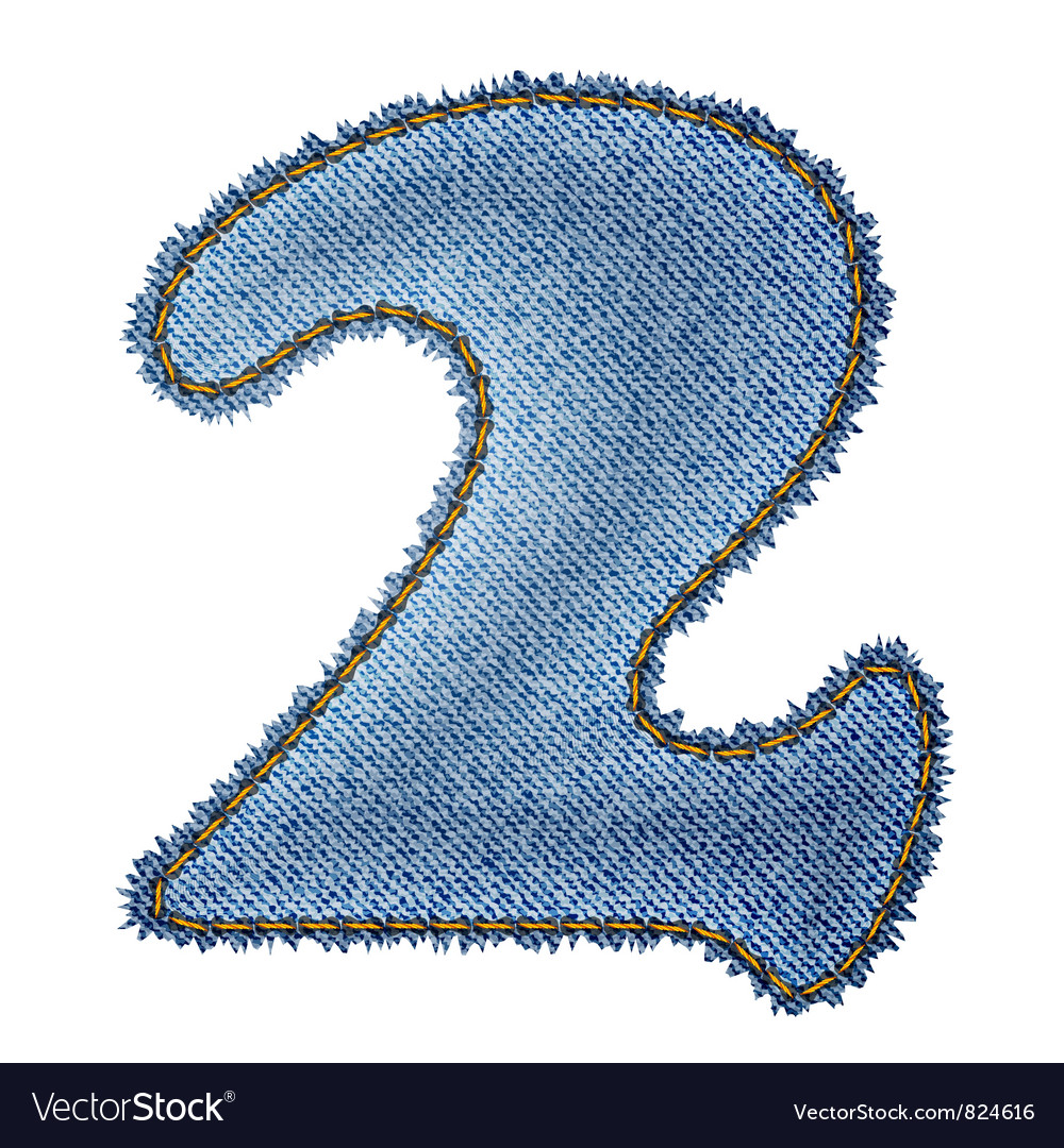 Jeans alphabet denim number 2 vector | Price: 1 Credit (USD $1)