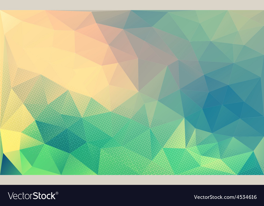 Retro polygon art background vector | Price: 1 Credit (USD $1)