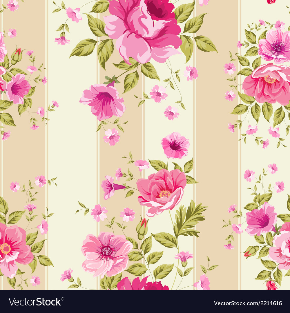 Roses floral wallpaper vector   Price: 1 Credit (USD $1)