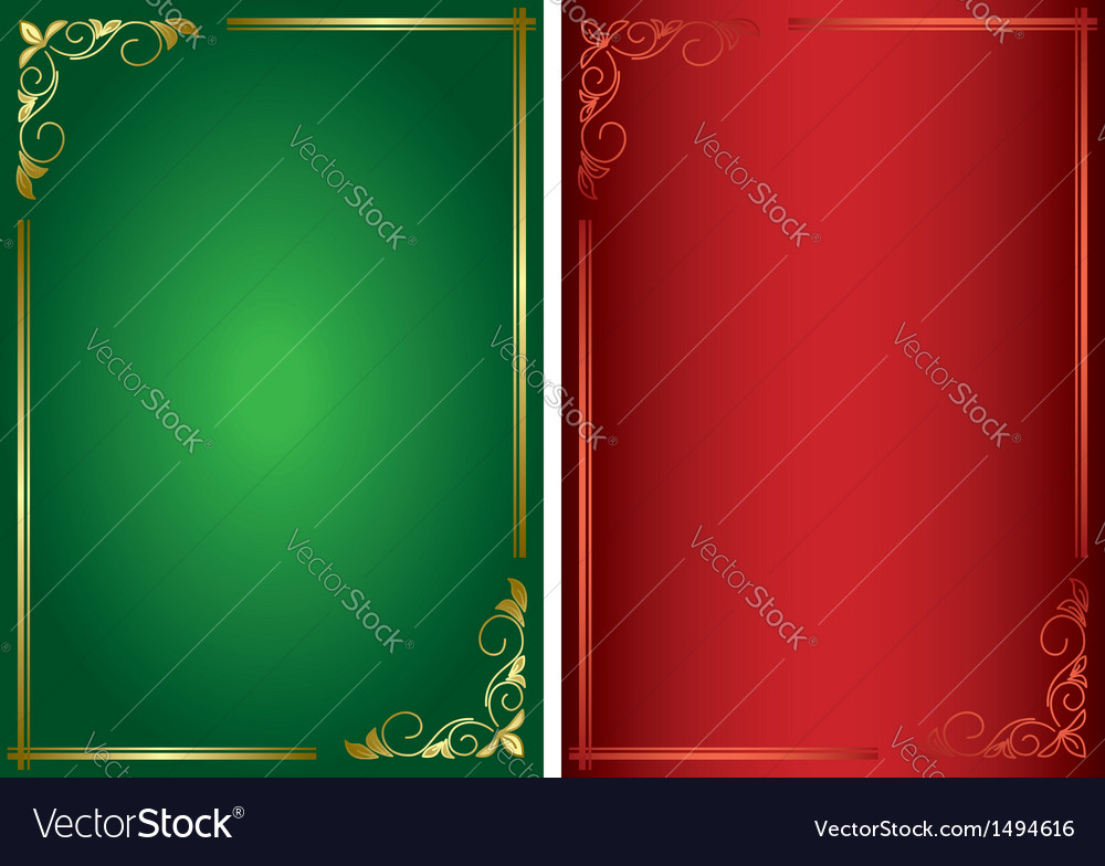Set - decorative green and red frames vector | Price: 1 Credit (USD $1)