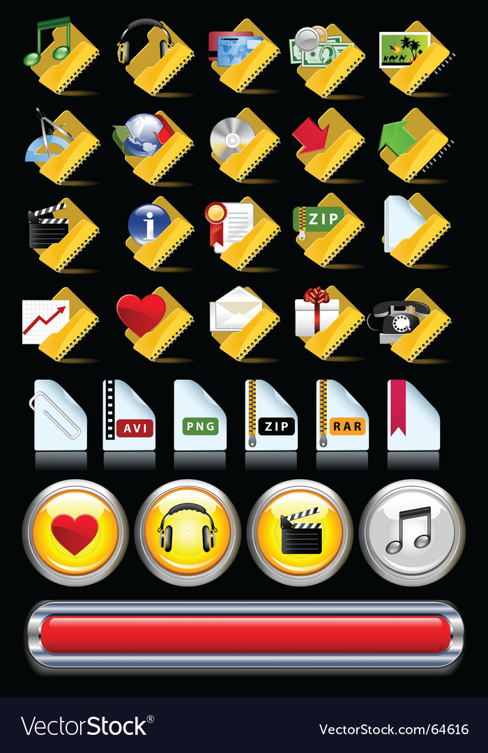 Set of internet icons vector | Price: 3 Credit (USD $3)