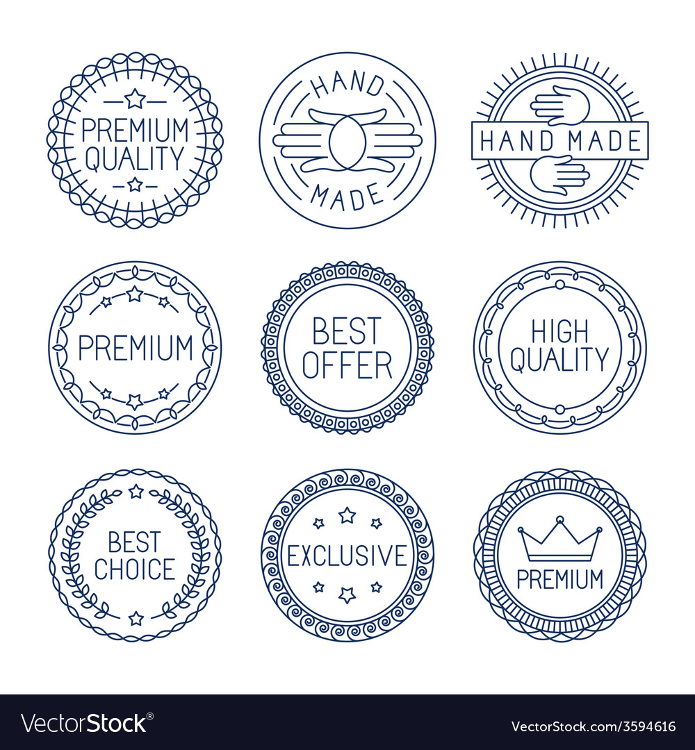 Set of premium labels vector | Price: 1 Credit (USD $1)
