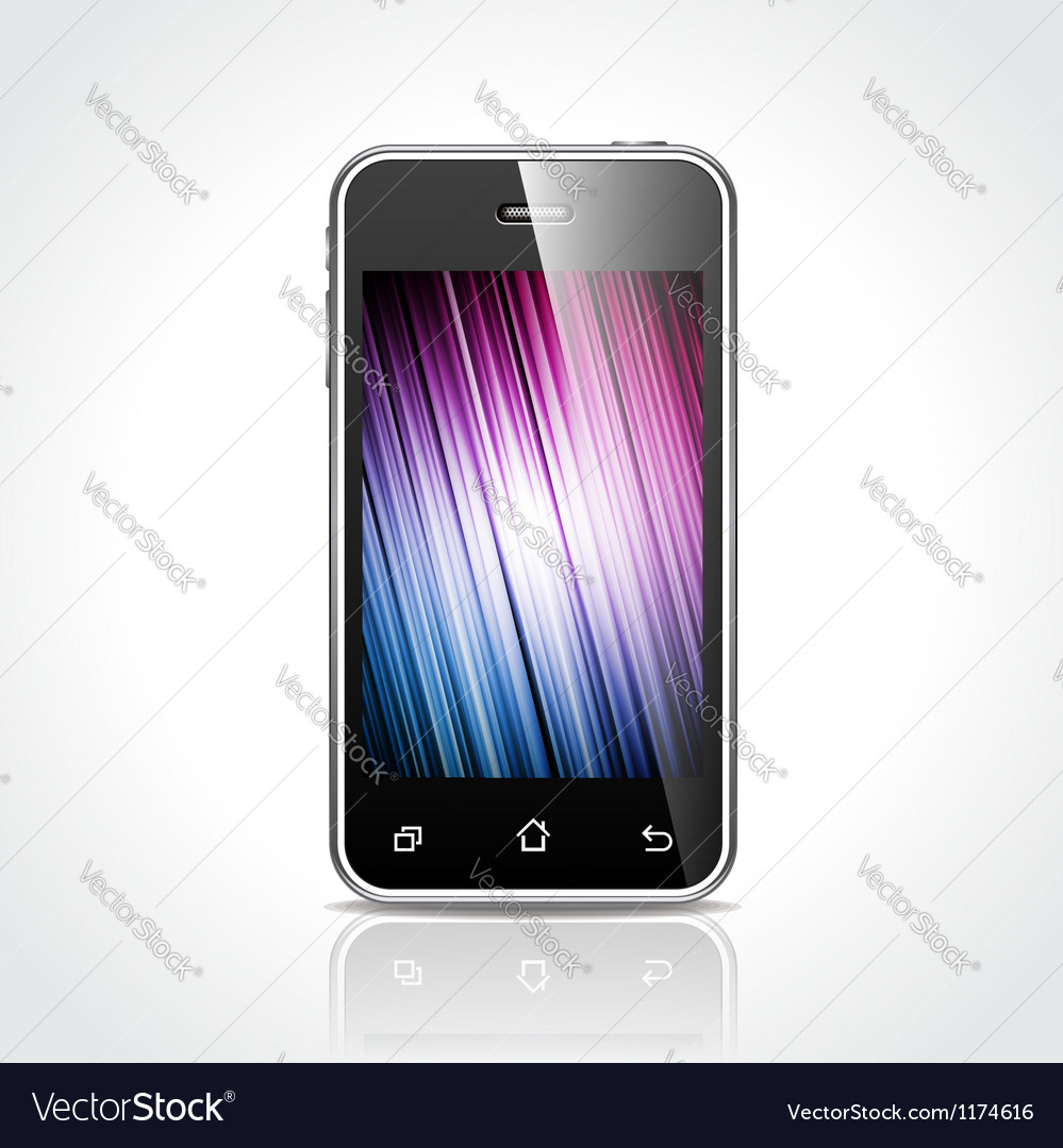 Shiny touchscreen mobile vector | Price: 3 Credit (USD $3)