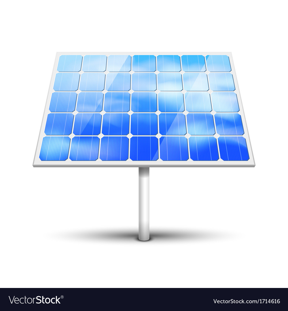 Solar panel on white vector | Price: 1 Credit (USD $1)