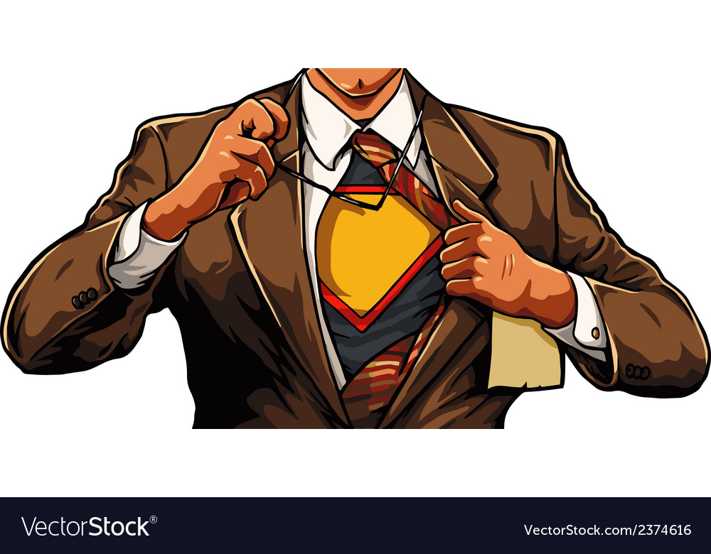 Superhero cartoon man vector | Price: 3 Credit (USD $3)