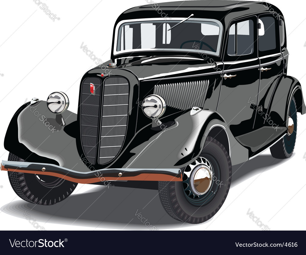 Vintage car vector | Price: 5 Credit (USD $5)