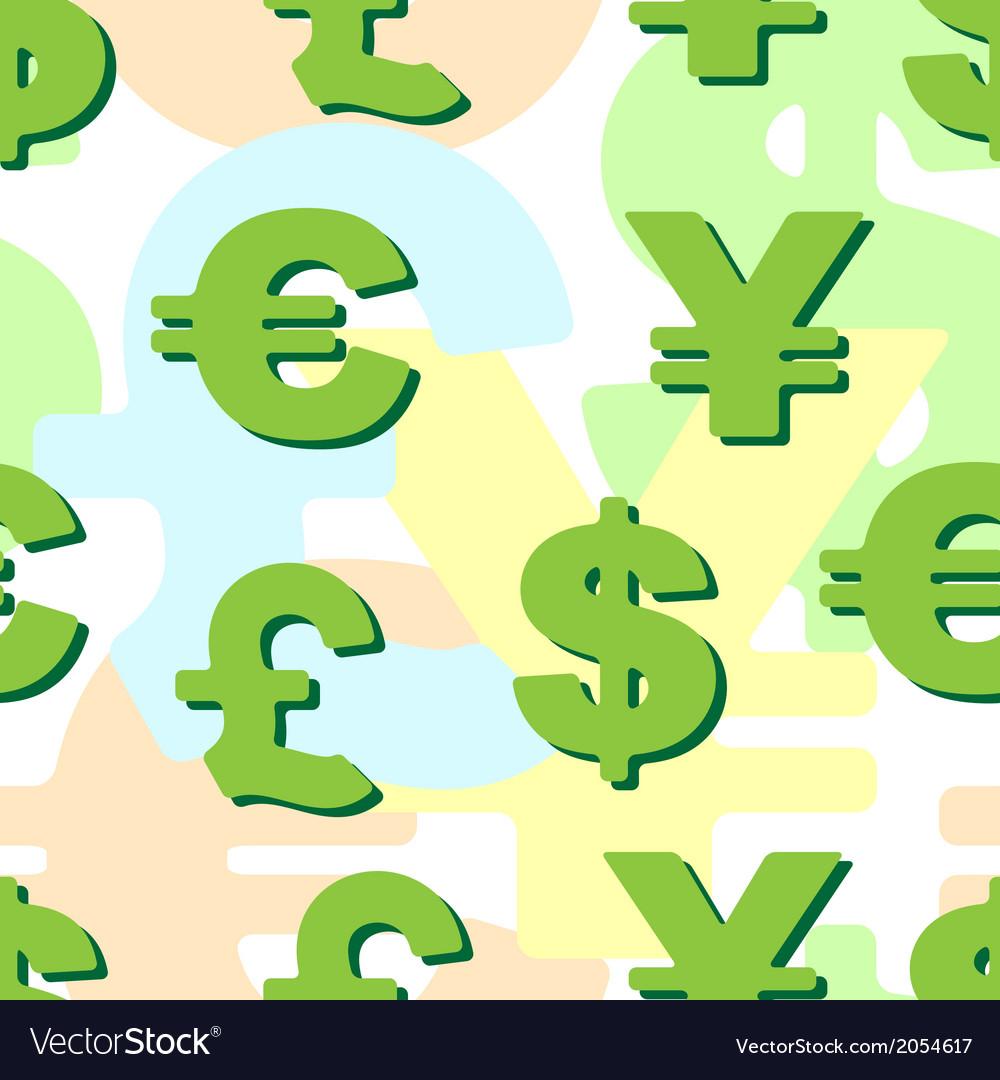 Background business monetary symbols vector | Price: 1 Credit (USD $1)