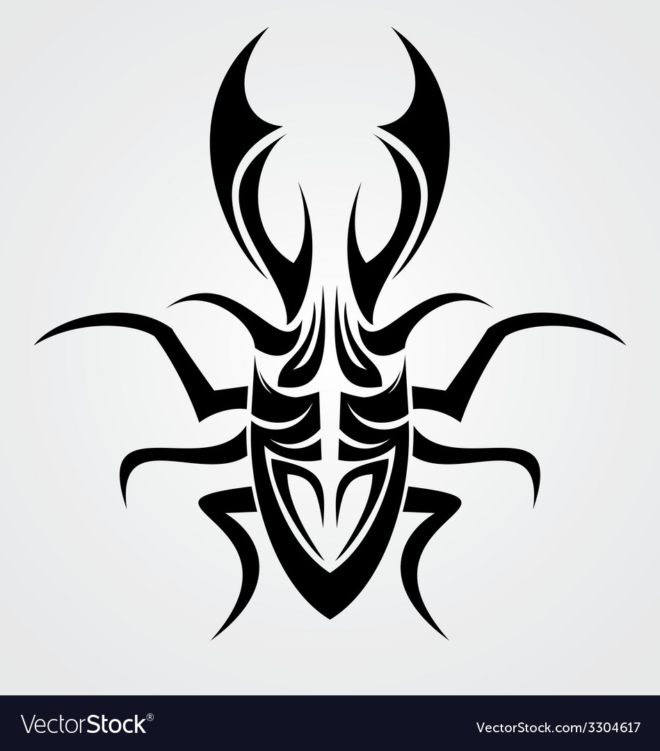Beetle tattoo design vector | Price: 1 Credit (USD $1)